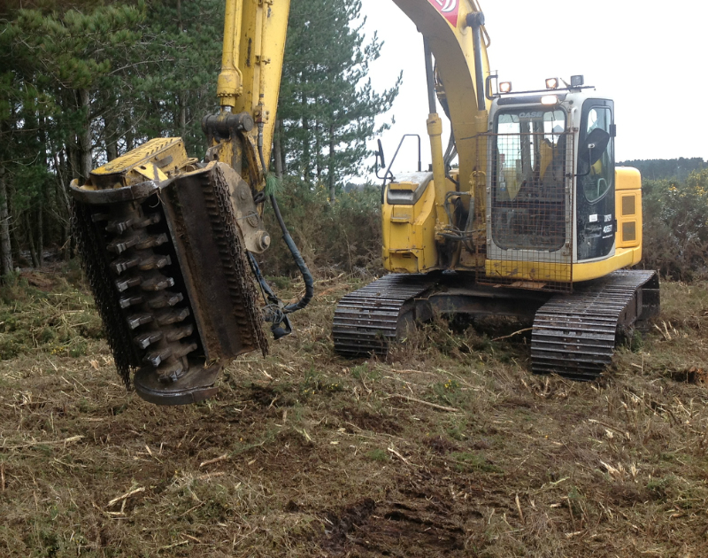 Third Image Depicting Forestry Mulching in Oxford